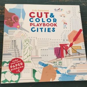 Cut and Color Playbook Cities Activity Book NEW